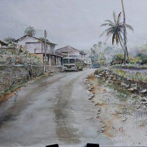 Online, Art, Art Gallery, Online Art Galley, Sri Lanka, Karunagama, Watercolor, Water Colour, Thawalama, Thawalama town, Thawalama paintings, Landscape, Sri lanka paintings,