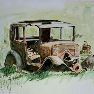 Online, Art, Art Gallery, Online Art Galley, Sri Lanka, Karunagama, Watercolor, Water Colour, Junk Cars, Junk Car Paintings, Sri lanka paintings,