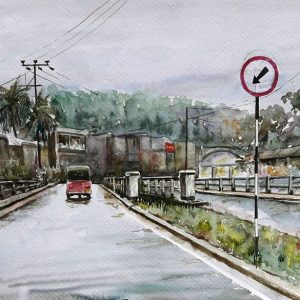 Online, Art, Art Gallery, Online Art Galley, Sri Lanka, Karunagama, Watercolor, Water Colour, Gampola, Gampola paintings, Bridge, Bridge paintings, Sri lanka paintings,