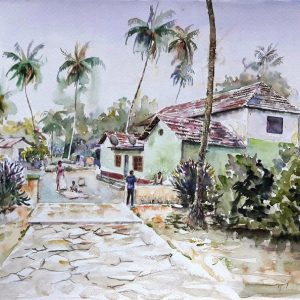 Online, Art, Art Gallery, Online Art Galley, Sri Lanka, Karunagama, Watercolor, Water Colour, Houses in Sri lanka, Sri lanka Landscapes, Landscape paintings, Paintings of Houses, Water Colors, Paintings, Sri Lanka, Online Arts, Art Gallery, Sarath Karunagama, Online Art Gallery, Portrait, Landscape, House, Sri lanka paintings,