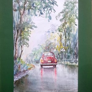 Online, Art, Art Gallery, Online Art Galley, Sri Lanka, Karunagama, Watercolor, Water Colour, VW Paintings, Volkswagon Paintings, Volkswagon cars, Car Paintings, Reflections, Vehicles, Vehicle painitngs,, Sri lanka paintings,