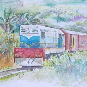 Online, Art, Art Gallery, Online Art Galley, Sri Lanka, Karunagama, Watercolor, Water Colour, Diesel Locomotive , Sri lankan Diesel Locomotive, Sri lankan Locomotive Paintings, M1 Locomotive, M1 Locomotive Paintings, Water Colors, Paintings, Sri Lanka, Online Arts, Art Gallery, Sarath Karunagama, Online Art Gallery, Water Colors, Paintings, Sri Lanka, Online Arts, Art Gallery, Sarath Karunagama, Online Art Gallery, Portrait, Landscape, Railways, Trains, Sri lanka paintings,