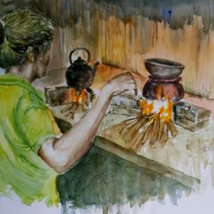 Water Colors, Paintings, Sri Lanka, Online Arts, Art Gallery, Sarath Karunagama, Online Art Gallery, Portrait, Landscape, Fire, Firewood, Cooking, Online, Art, Art Gallery, Online Art Galley, Sri Lanka, Karunagama, Watercolor, Water Colour, Hearth, Fire wood Hearth, Firewood Hearth Painting, Sri Lanka People, Firewood Paintigns, Sri lanka paintings,