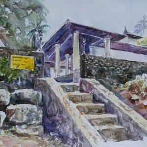 Online, Art, Art Gallery, Online Art Galley, Sri Lanka, Karunagama, Watercolor, Water Colour, Dodanwala, Dodanwala devalaya, Sri lanka paintings,
