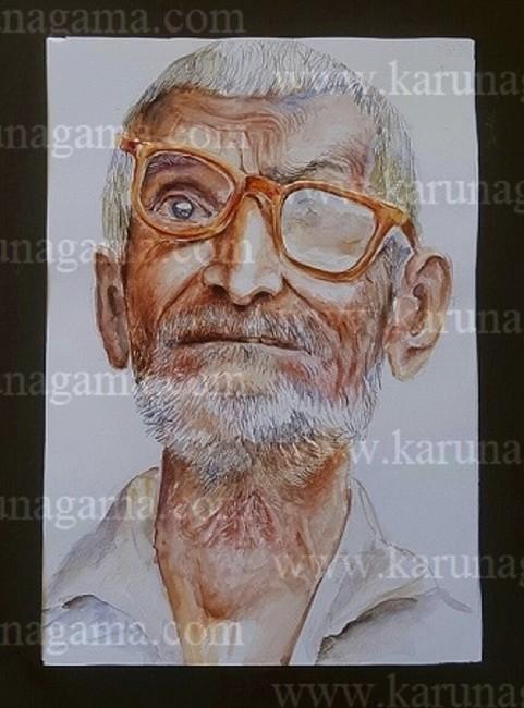 Image of: Watercolor Online Art Art Gallery Online Art Galley Sri Lanka Karunagama Karunagama Art Gallery Old Man With Spectacles Karunagama Art Gallery