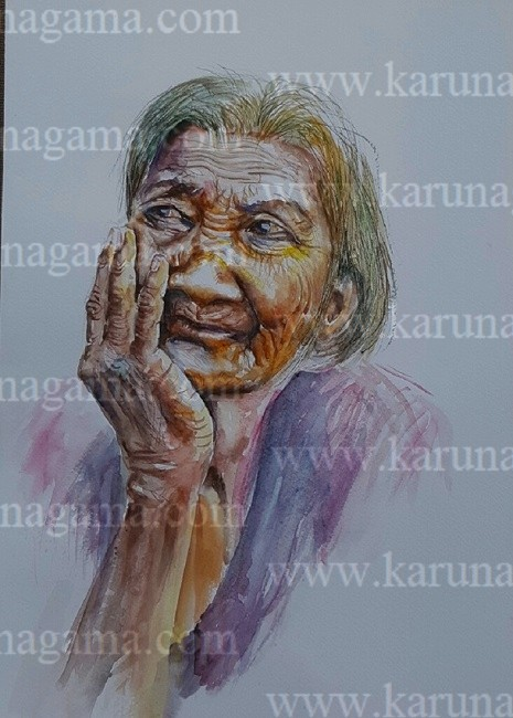 Image of: Graffiti Online Art Art Gallery Online Art Galley Sri Lanka Karunagama Karunagama Art Gallery An Elderly Woman Karunagama Art Gallery