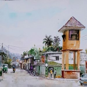 Online, Art, Art Gallery, Online Art Galley, Sri Lanka, Karunagama, Watercolor, Water Colour, Palapathwela, A-9 road, Townscape, Landscape, Sri lanka paintings,