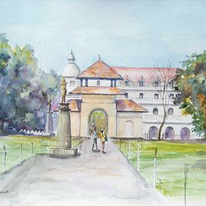 Online, Art, Art Gallery, Online, Online Art Galley, Sri Lanka, Karunagama, Sri lanka Paintings, Queens hotel paintings, Clock tower, Kandy Paintings, Dalada maligawa paintings, Kandy watercolor paintings, Water Colour, Watercolor