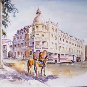 Online, Art, Art Gallery, Online Art Galley, Sri Lanka, Karunagama, Watercolor, Water Colour, Sri lanka Police, Sri lanka Horses, Kandy, Kandy lake, Kandy paintings,