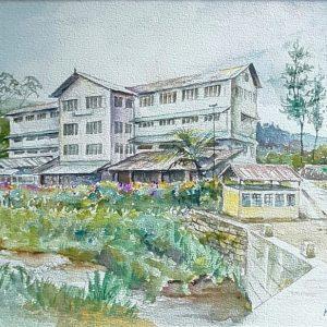Online, Art, Art Gallery, Online Art Galley, Sri Lanka, Karunagama, Watercolor, Water Colour, Tea estates, Tea factories, Sri lankan Tea industry, Sri lankan tea factory paintings, Sri lankan hill country.