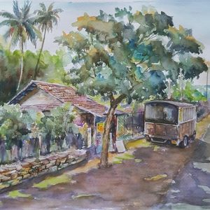 Online, Art, Art Gallery, Online Art Galley, Sri Lanka, Karunagama, Watercolor, Water Colour, Sri lanka shops, Sri lanka vehicles, Sri lankan roads, Landscapes,