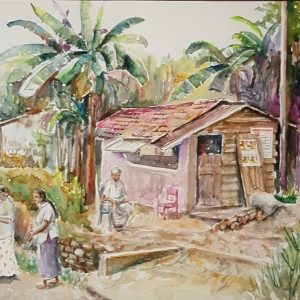 Art, Art Gallery, Paintings, Karunagama, Landscapes, Sri lanka Women, Houses paintings, Sri lanka villages, People in Sri lanka,