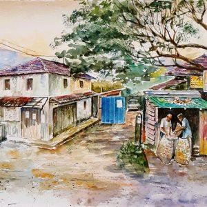 Online, Art, Art Gallery, Online Art Galley, Sri Lanka, Karunagama, Watercolor, Water Colour, Kadiyanlena, Kothmale, Landscape, Landscape paintings, Vendors, Customers,