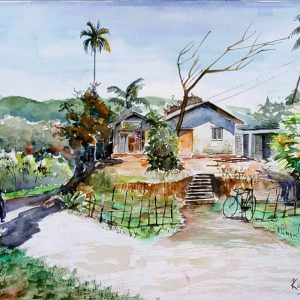 Online, Art, Art Gallery, Online Art Galley, Sri Lanka, Karunagama, Watercolor, Water Colour,Dolosbage, Nawalapitiya, Landscape,