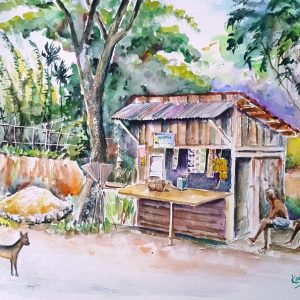 Online, Art, Art Gallery, Online Art Galley, Sri Lanka, Karunagama, Watercolor, Water Colour, Simple shop, Roadside shops,