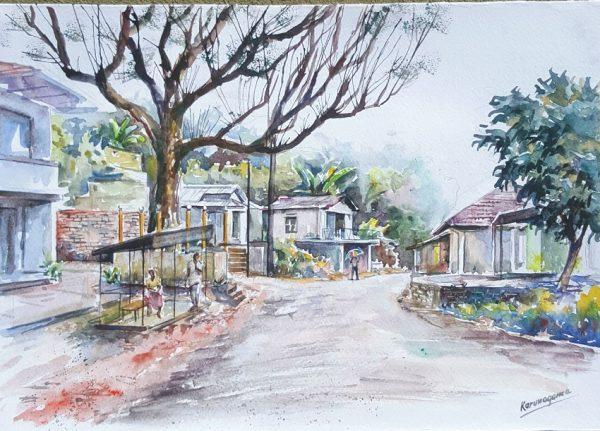 Online, Art, Art Gallery, Online Art Galley, Sri Lanka, Karunagama, Watercolor, Water Colour, Hangurankrtha, Hanguranketha paintings, Kandyan period,
