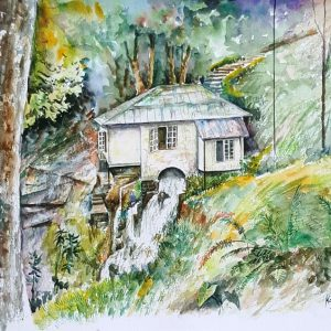 Online, Art, Art Gallery, Online Art Galley, Sri Lanka, Karunagama, Watercolor, Water Colour, Kadiyanlena, Kataboola, Hydro power station, Mini hydro power.