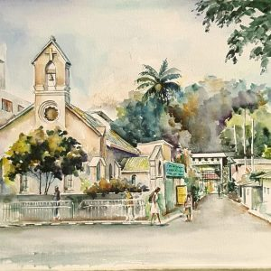 Online, Art, Art Gallery, Online Art Galley, Sri Lanka, Karunagama, Watercolor, Water Colour, Church paintings, Kandy churches, Anglican churches, yatinuwara vidiya, Kandy landscapes,