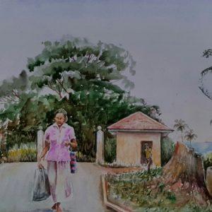 Online, Art, Art Gallery, Online Art Galley, Sri Lanka, Karunagama, Watercolor, Water Colour,Peradeniya, Hospitals in Sri Lanka,Sri lanka paintings,