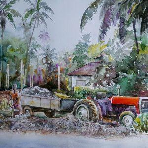 Online, Art, Art Gallery, Online Art Galley, Sri Lanka, Karunagama, Watercolor, Water Colour, Sri lanka Landscape, Sri lanka paintings,